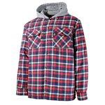 Chemise à carreaux doublée rouge avec capuchon