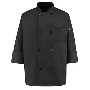 Chef Designs black chef coat