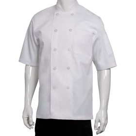 Proluxe Professional Chef Veste /à manches courtes Unisexe Coupe moderne Blanc Noir Tailles XS /à 4XL