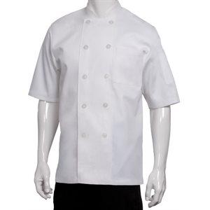 Veste de cuisinier manche courte blanche CHEFWORKS